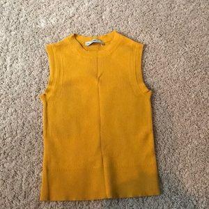 Zara knot sleeveless crop
